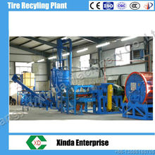 Xinda tire recycling machine waste tyre recycling plant rubber crumb line