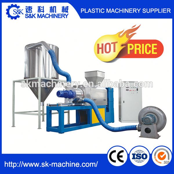 Washing Recycling Line Used Plastic Film Squeezer 500-1000kg/h High Output
