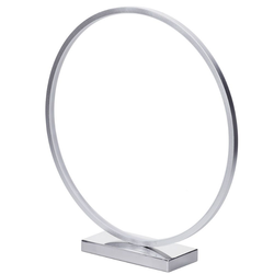 Concise Style Metal Table Lamp 14W SMD Led Circle Ring Desk Light For Office Hotel Room