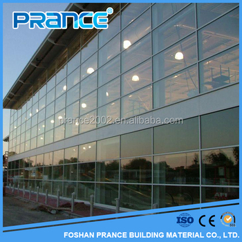 2016 Alibab Popular exterior building glass curtain wall