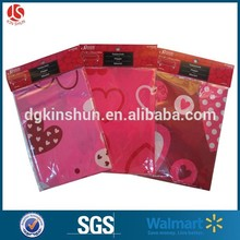 Valentine's day one-off colored plastic table cloth/table cover