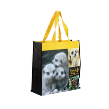 Promotional cute image shopping bags fabrics pp non-woven tote bag for shopping