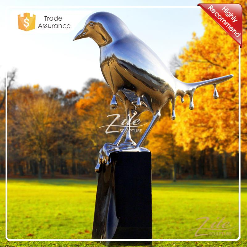 Best Selling Large Melting Bird Stainless Steel Outdoor Sculpture for Decoration