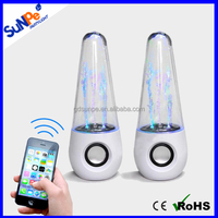 Computer accessories Hifi cool stereo Mini dancing water speakers LED light show fountain speakers with bluetooth version