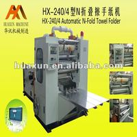 Automatic embossed paper hand towel folding machine