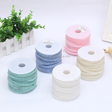 China factory wholesale pearl beads chain roll plastic beads for jewelry making
