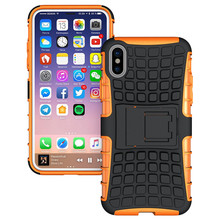 3 in 1 soft TPU and Hard Plastic Tire style phone case for iphone 7 and 7plus with shockproof clip cover