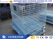 CE & ISO9001 Wire Mesh Container Pallet Cage For Industrial Storage