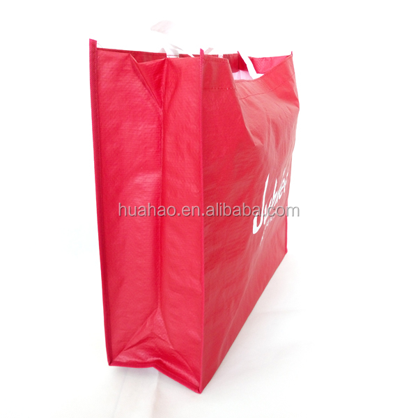 tote shopping laminated pp woven beach bag