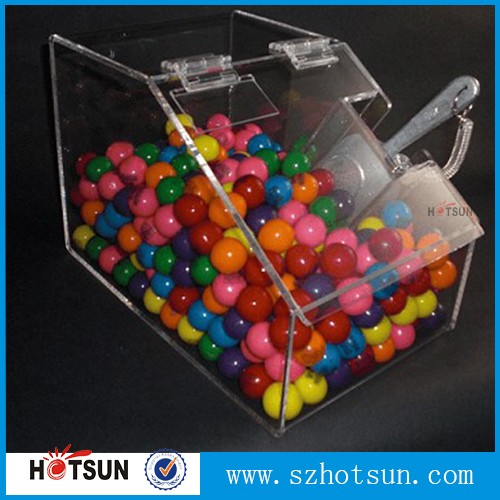 mini candy bins polishing surface clear acrylic candy dispenser with scoop wholesale price