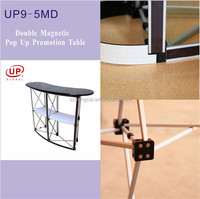 Magnetic Graphic Wrap Counter Display Promo Table Aluminium Alloy