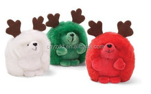 Soft Toy Reindeer Hedgehogs/Stuffed Toy Colorful Hedgehog with Reindeer Horn /Stuffed Toy Animated New Style Hedgehog