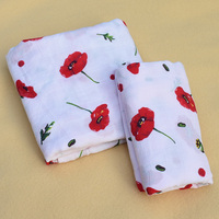 2019 New 100% Organic Cotton Rose Red Muslin Baby Blankets Bedding Infant Swaddle Towel For Newborns Swaddle Blanket Baby Wrap
