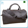 Luxury custom real exotic weekend travel bag made of authentic genuine ostrich leather