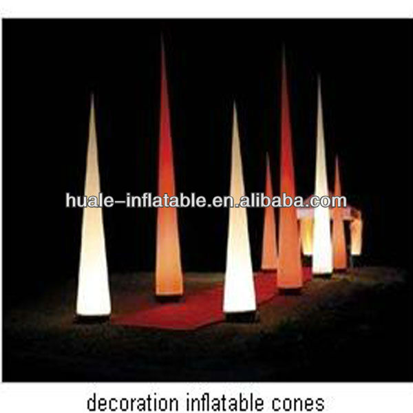 Hot sell inflatable lighting cone for adverting, decoration LED inflatable cone for party