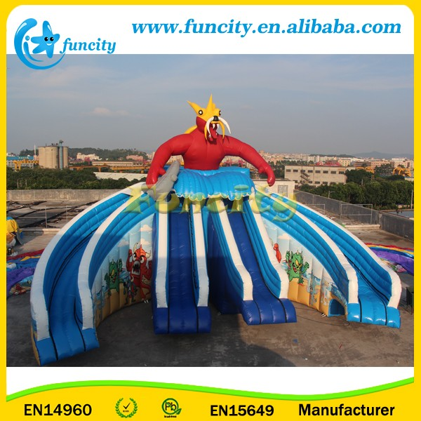 Inflatable Swimming Pool Slide , Giant Inflatable Water Slide For Sale