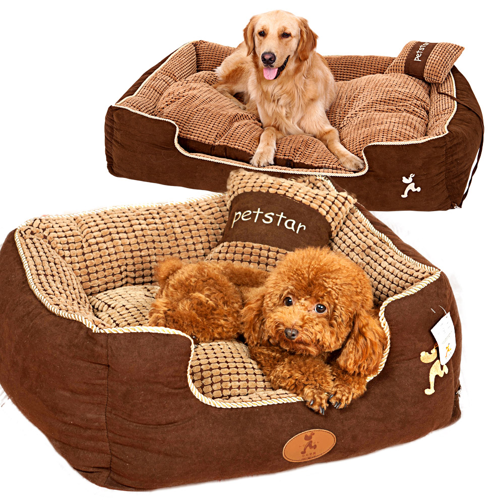 Hoopet Classical Soft Pet Bed Paradise Bolster Dog Bed