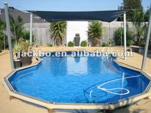 The metal frame & above underground swimming pool made in china