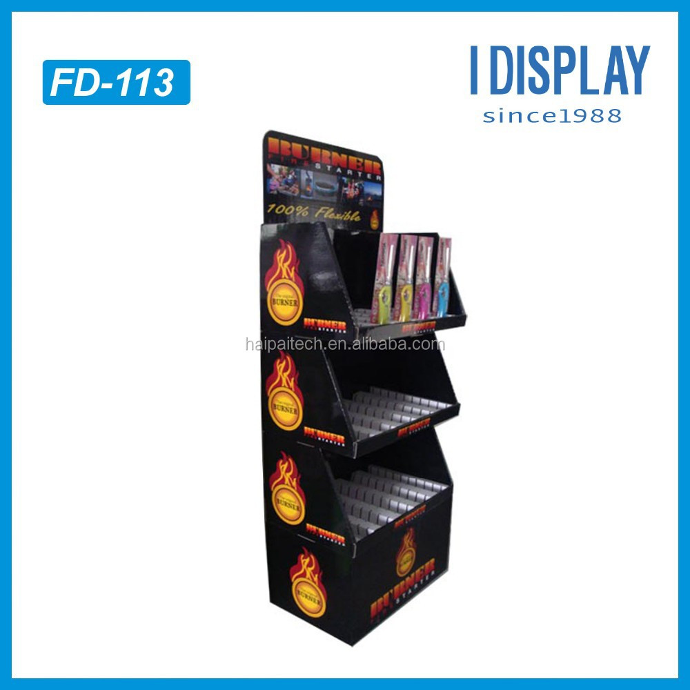 custom cheap printing cardboard pop up scissor display stand