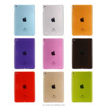 Best Selling Colorful Soft Transparent TPU Back Cover Clear Case for iPad mini 4