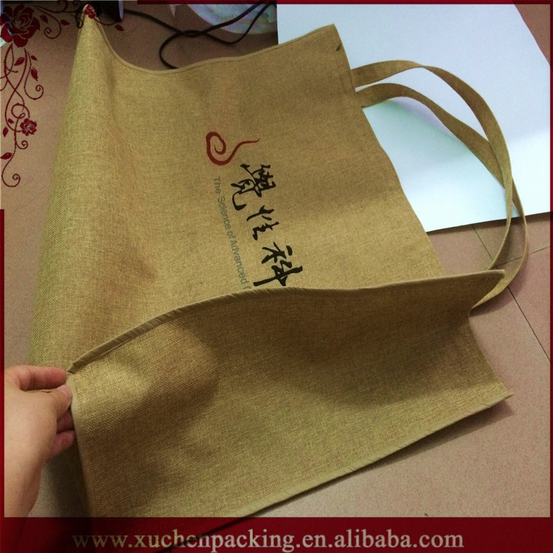 Widely Used Drawstring Hot Selling100% Jute Fabric Bag Sofa Fabric