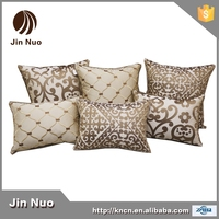 European luxury imitated silk embroidery sofa cushion with different size