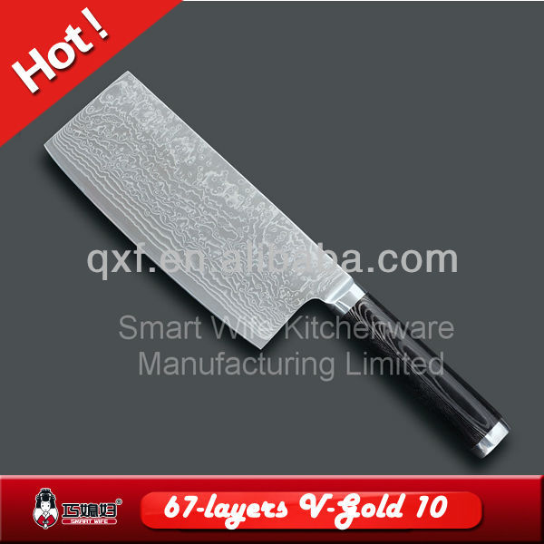 67 layers Damascus kitchen butcher knife