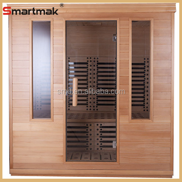 2015 New Model Luxury Red Cedar 3 Person Sauna Room ,Far Infrared Sauna Houses