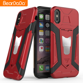 Attractive Appearance kickstand tpu pc for iphone x case red hybrid