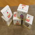 Individual Single Window Cupcake or Muffin Boxes, Bunting & Cake Design