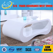 Modern high gloss coffee table,arc shape table design