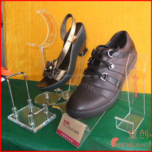 acrylic retail store shoe display rack