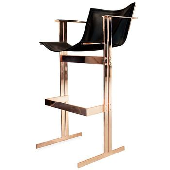 Hudson Stainless Steel Bar Loung Chair , Bar Stool , Bar Chair