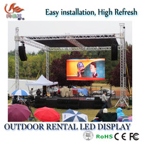 RGX Professional 500x500mm 500x1000mm cabinet P3.91 P4.81 outdoor Rental LED DISPLAY