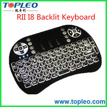 Wireless Gaming Rii i8 Backlit air mouse 2.4G Mini Keyboard with Multi-touch Touchpad