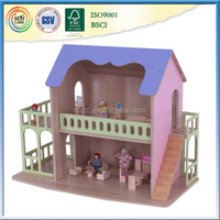 Latest technology and fined processed wooden house,learning toy