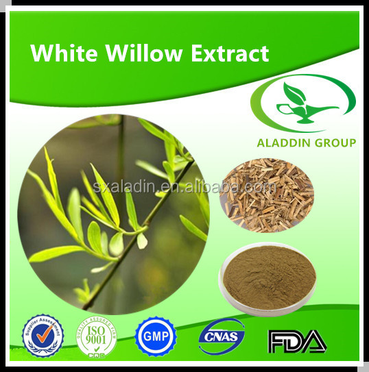 100 Pure Natural White Willow Bark Extract with Salicin 15%,25%,50%,98%