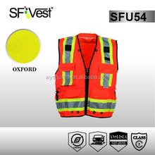 high visibility reflective safety vest with pocket