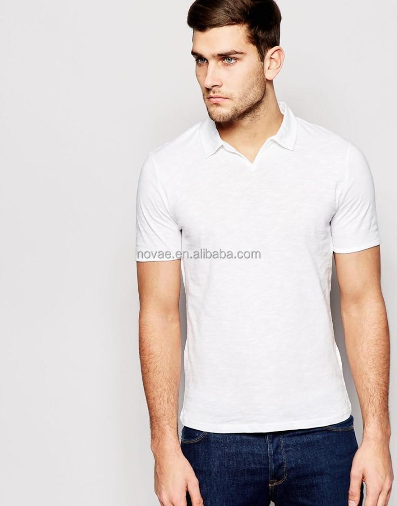 Open collar no button mens polo shirt buy mens polo for No button polo shirts