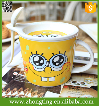 Souvenir New design Hot sale best gift cups wholesale ceramic soup mugs with handle