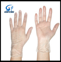 exam disposable clear color vinyl gloves