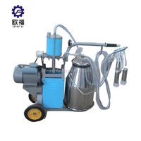 Single Mobile Cow Milking Machine for Sale