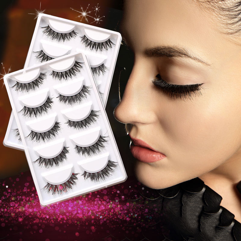 Makeup Handmade Soft Fashion Demi Wispies Natural Fake Cross Thick False Eyelashes Eye Lashes