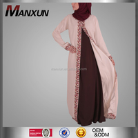good looking embroidered kimono new products pink muslim abaya