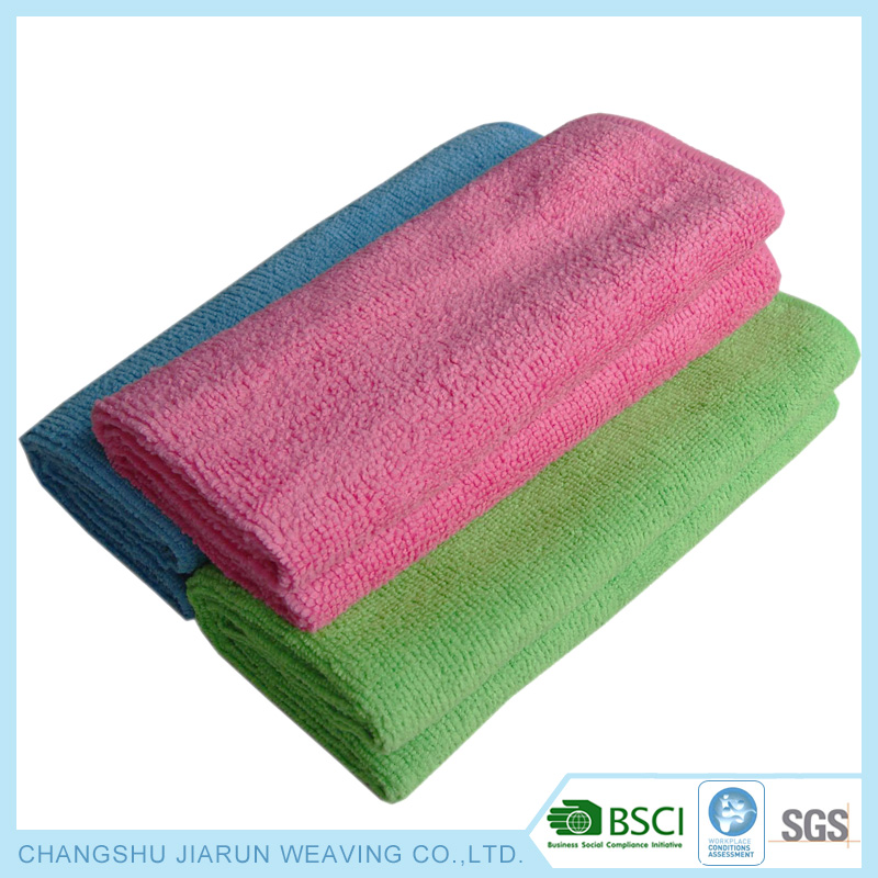 Wholesale factory microfibre towels colors knit dish cloth for kitchen washing