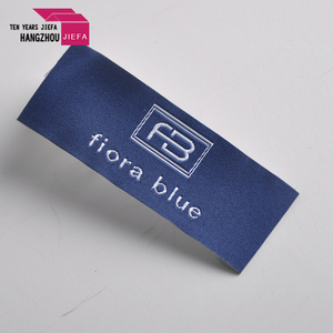 Custom high quality damask woven clothing labels for garment