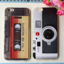 Retro magnetic tape musical cartoon TPU cell phone case for Iphone 5,5SE,6,6+,7,7+