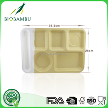 Factory directly provide durable bamboo fiber divided food plate