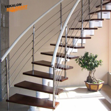 Latest Design Modern Curved Wood Stairs