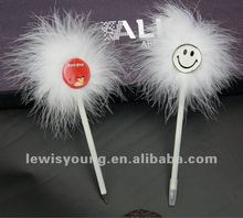 Smile face feather promotional ball point pen